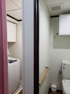 トイレと洗濯室がセパレートに